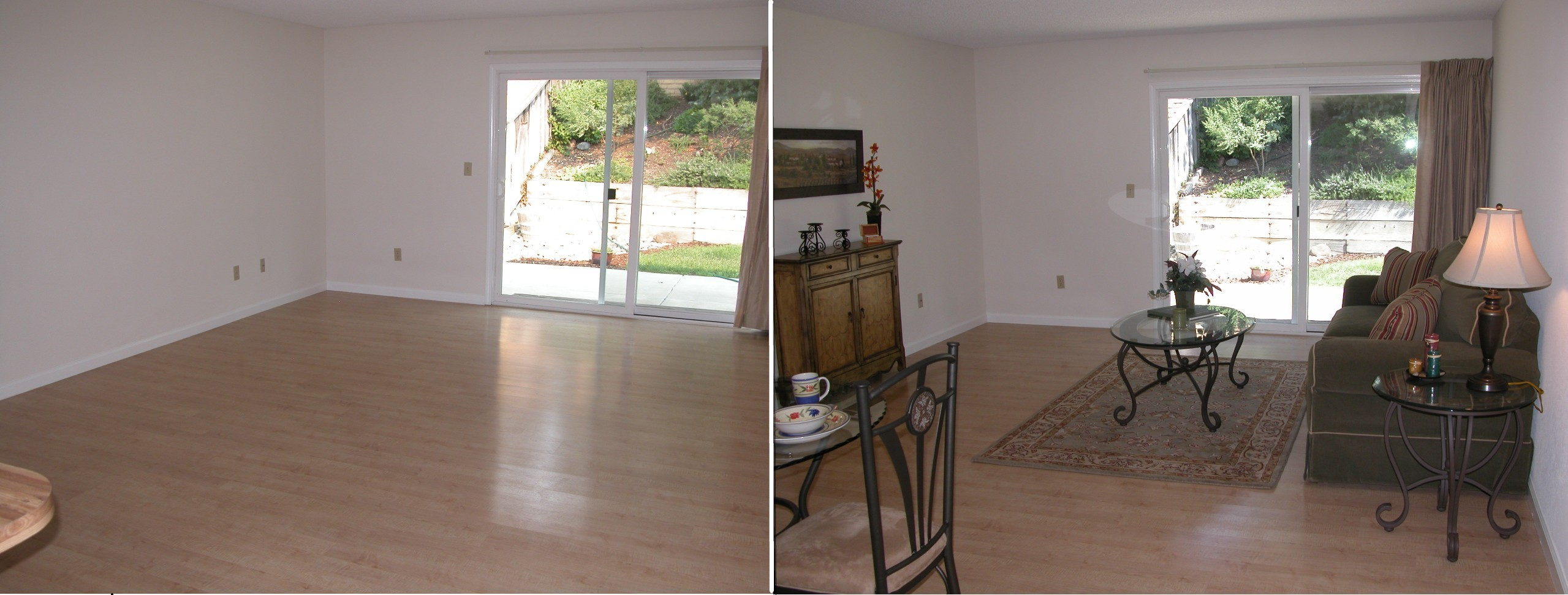 Staging real estate interior design color staging for Staged houses before and after
