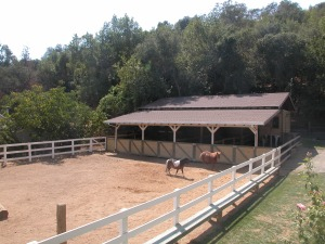 Four stall barn was designed to be converted into a 4 car garage